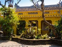 Hoian, Vietnam - November 05, 2016: Old houses in Hoi An ancient town, UNESCO world heritage. Hoi An is one of the most Royalty Free Stock Photo