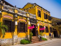 Hoian, Vietnam - November 05, 2016: Old houses in Hoi An ancient town, UNESCO world heritage. Hoi An is one of the most Stock Image