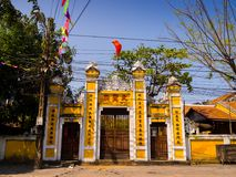 HOIAN, VIETNAM, SEPTEMBER, 04 2017: Front view of the temple at hoian, in a sunny day in Vietnam Royalty Free Stock Images
