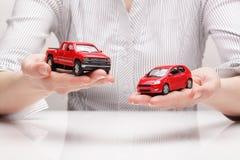 Hoice Ð ¡ van auto (concept) Stock Afbeelding