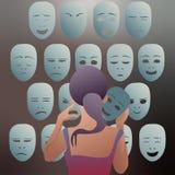 Hoice των μασκών για σήμερα ελεύθερη απεικόνιση δικαιώματος