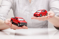 Сhoice of car (concept) Royalty Free Stock Image