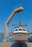 Hoist boat Stock Images