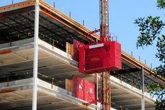 Hoist for building under construction, Florida, USA Royalty Free Stock Photo