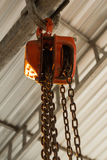 Hoist chain Stock Photo