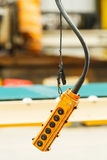 Hoist and crane pendant control box Royalty Free Stock Photo