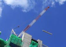 Hoist crane working Stock Photos