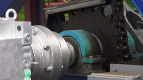 Hoist, Mechanism, chain, gear. 4K. stock footage