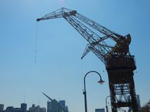 The Hoist. Side view of the hoist in Puerto Madero stock photography