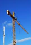Hoist under the blue sky Stock Photo