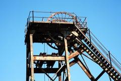 Hoist wheel at a coal mine Royalty Free Stock Image