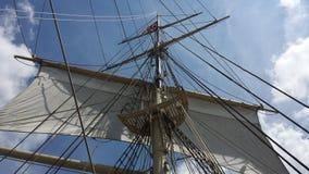 Hoisted main sails Royalty Free Stock Photo