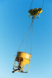 Hoisting construction equipment for concrete Royalty Free Stock Photos