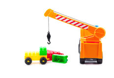 Hoisting crane. With blocs at the work place royalty free stock image
