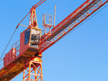 Hoisting crane. Fragment. Royalty Free Stock Photography