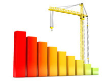 Hoisting Crane with Progress Bars Stock Photos