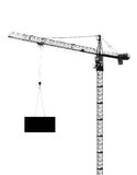 Hoisting crane, silhouette Royalty Free Stock Image
