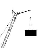 Hoisting crane, silhouette Royalty Free Stock Photos
