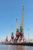 Hoisting cranes Stock Photography
