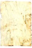Hoja antigua del papel Imagen de archivo libre de regalías