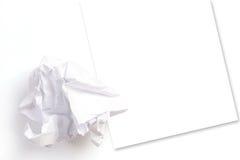 Hoja arrugada del papel Imagen de archivo