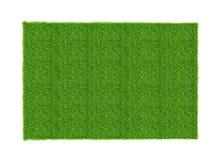 Hoja artificial de la hierba verde aislada en el fondo blanco Imágenes de archivo libres de regalías