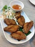 Hoja asada a la parrilla de la comida del pollo imagen de archivo