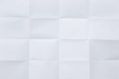 Hoja blanca del papel plegable fotos de archivo libres de regalías