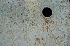Hoja brillante del hierro cubierta con moho imagen de archivo