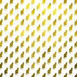 Hoja Cat Background metálica del modelo de los gatos del oro falsa Imagen de archivo