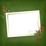 Hoja con el marco del oro para la invitación Imagen de archivo libre de regalías