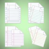 Hoja del papel de nota con las líneas coloridas stock de ilustración