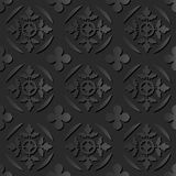 Hoja cruzada redonda del modelo 009 de papel oscuros elegantes inconsútiles del arte 3D stock de ilustración