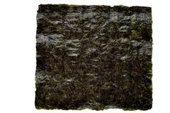 Hoja de alga marina de Nori en un blanco Fotografía de archivo