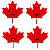 Hoja de arce canadiense Smilies Foto de archivo libre de regalías