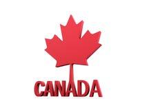 Hoja de arce de Canadá 3D Imágenes de archivo libres de regalías