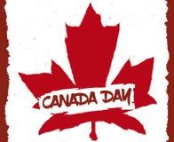 Hoja de arce en el estilo de la pincelada para celebrar el día de Canadá, ejemplo del vector stock de ilustración