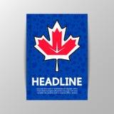 Hoja de arce en el fondo del hockey del mundial Imagen de archivo