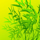 Hoja de bambú stock de ilustración