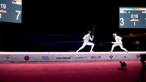 Hoja de cercado internacional 2015 de St Petersburg del torneo almacen de metraje de vídeo