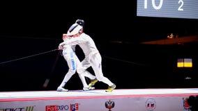 Hoja de cercado internacional 2015 de St Petersburg del torneo almacen de video
