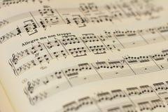 Hoja de la cuenta de la música imagen de archivo libre de regalías