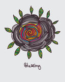 Hoja de la flor que bendice el interior colorido normal Imágenes de archivo libres de regalías