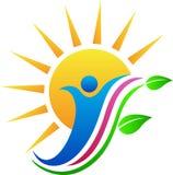 Hoja de la gente de Sun Imagen de archivo libre de regalías