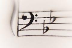 Hoja de la música Foto de archivo libre de regalías