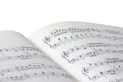 Hoja de la música Imagen de archivo libre de regalías