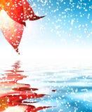 Hoja de la nieve del invierno Imágenes de archivo libres de regalías
