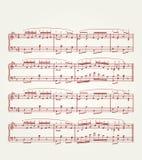 Hoja de la nota de la música Imagen de archivo libre de regalías