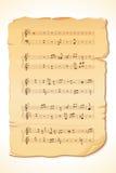 Hoja de la nota musical Imagen de archivo libre de regalías