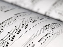 Hoja de las notas de la música Imagen de archivo libre de regalías